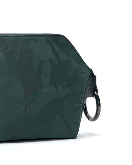 Transience Zip-Top Camo-Print Cosmetics Bag