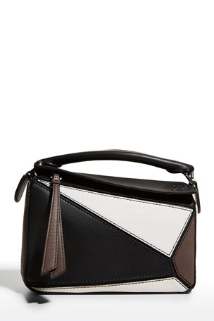 Loewe Puzzle Colorblock Leather Mini Satchel Bag