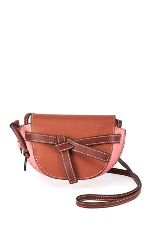 Loewe Gate Colorblock Leather Shoulder Bag