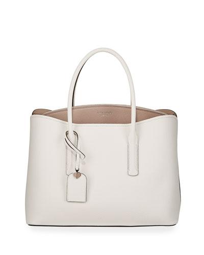 margaux large leather satchel bag