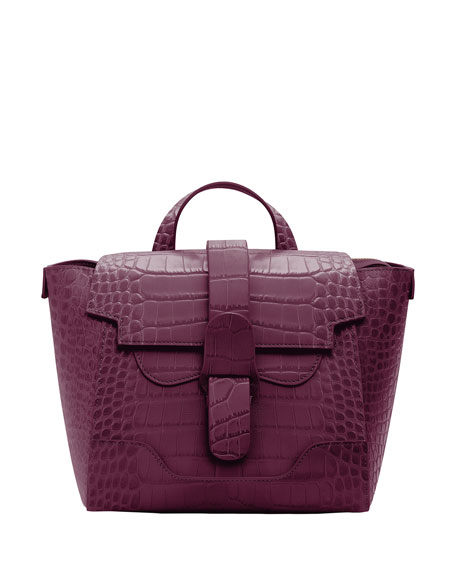 Image 1 of 4: Senreve Mini Maestra Mock-Croc Convertible Backpack Satchel Bag
