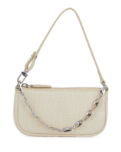 Rachel Mini Mock Croc Leather Shoulder Bag