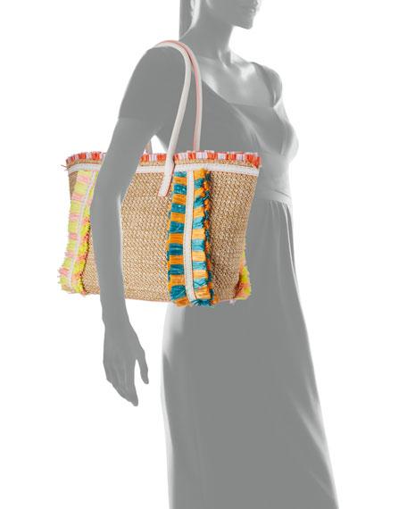 Sophia Webster Taya Raffia Tote Bag