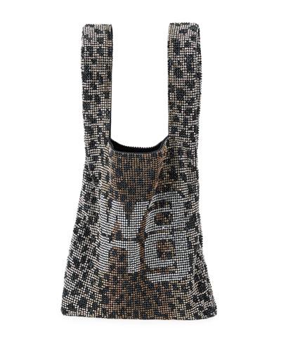 Wanglock Mini Leopard Shopper Tote Bag