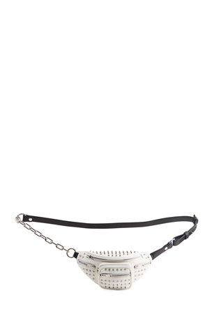 Alexander Wang Attica Mini Soft Spikes Leather Fanny Pack/Crossbody Bag