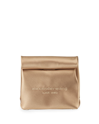 Satin Lunch Bag Clutch