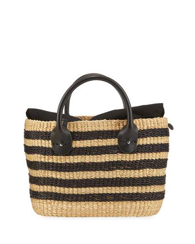 Bony Stripes Crossbody Bag With Pouch