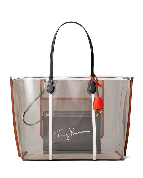 Tory Burch Perry Oversized PVC Tote Bag