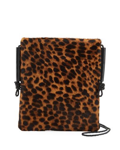 Cheetah Calf Hair Crossbody Bag