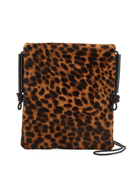 Lafayette 148 New York Cheetah Calf Hair Crossbody Bag