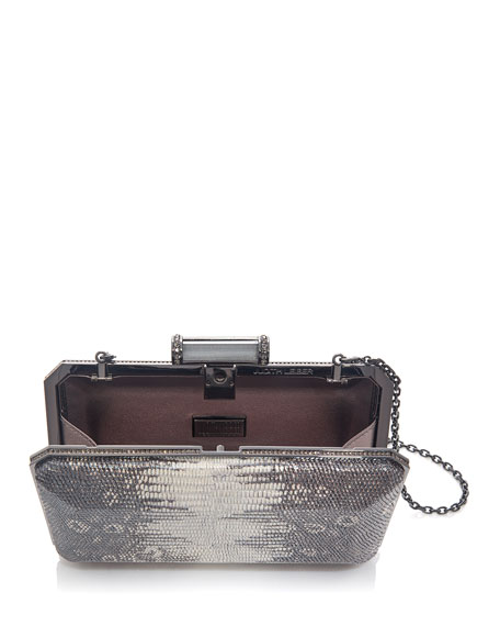 Image 2 of 2: Judith Leiber Couture Soho Mia Leather Clutch Bag
