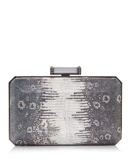 Image 1 of 2: Judith Leiber Couture Soho Mia Leather Clutch Bag