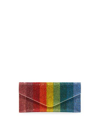 Envelope Beaded Rainbow Clutch Bag