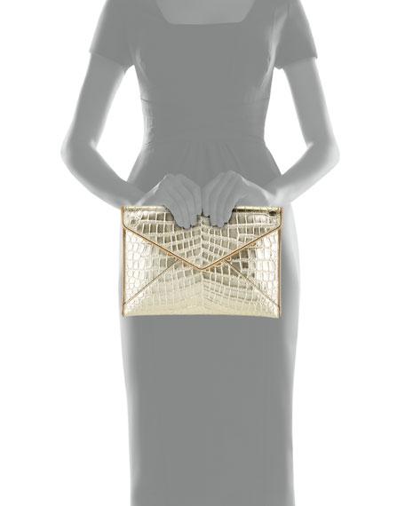 Rebecca Minkoff Leo Leather Clutch Bag - Light Gold Hardware