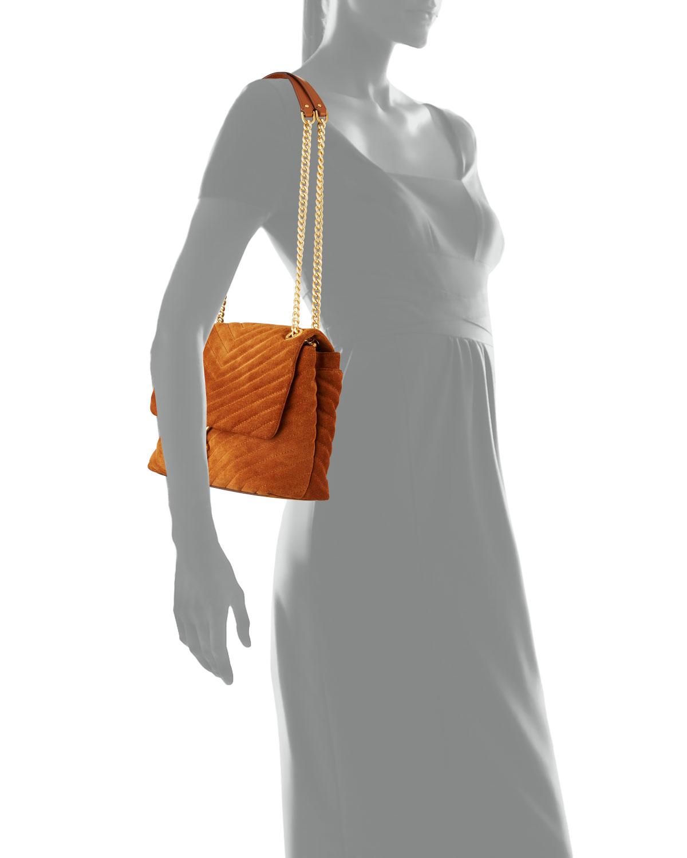 Edie Quilted Suede Shoulder Bag by Rebecca Minkoff