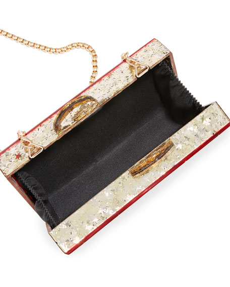 Bari Lynn Girl's Harlequin Acrylic Box Clutch Bag