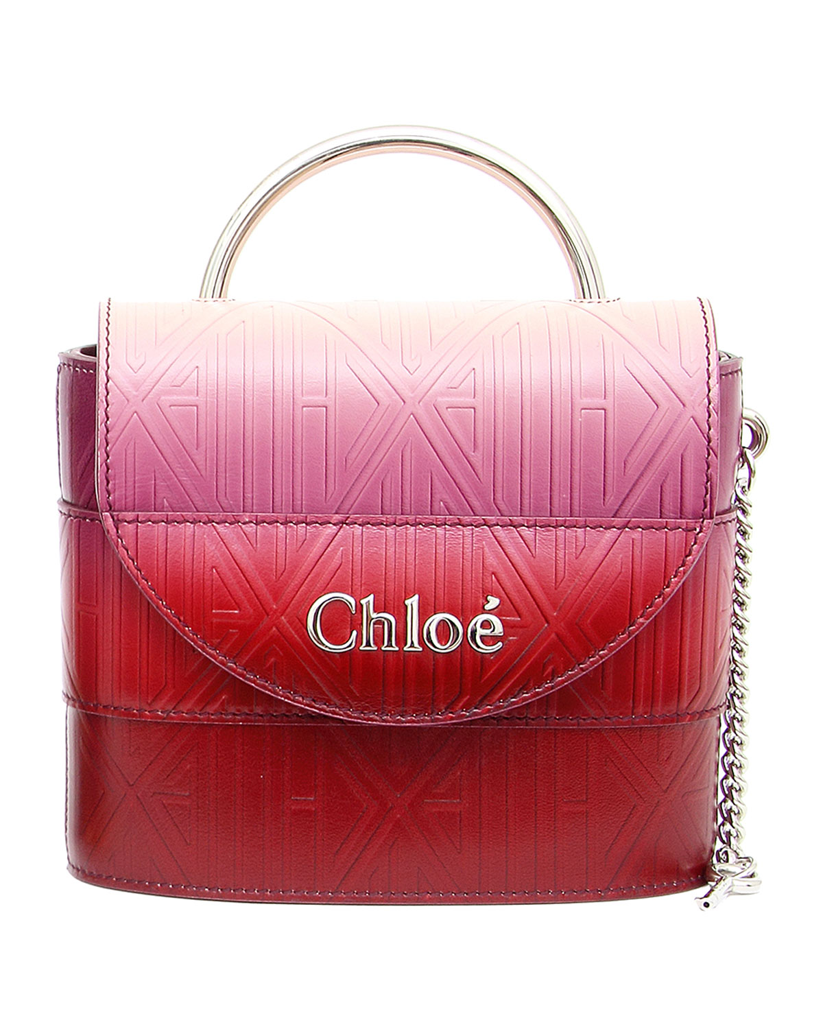 Chloe Aby Lock Ombre Top-Handle Bag