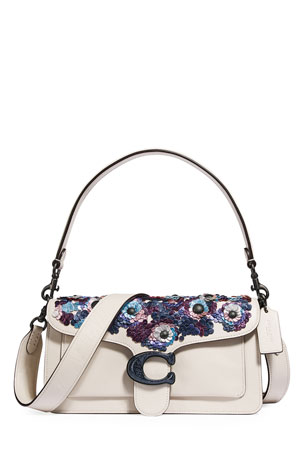 Coach 1941 Leather Sequin Flower Shoulder Bag