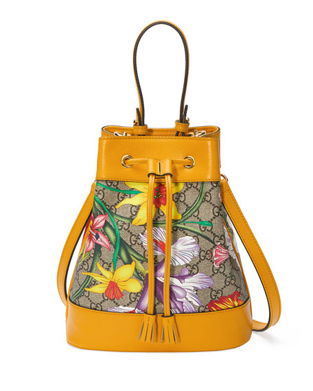 Gucci Ophidia Small GG Flora Bucket Bag