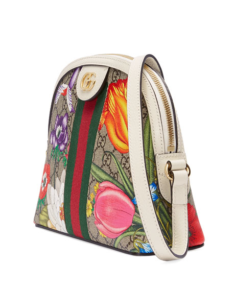 Gucci Ophidia Small GG Flora Shoulder Bag