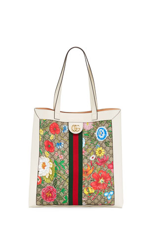Gucci Ophidia Large GG Flora Tote Bag