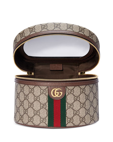 Gucci Ophidia GG Supreme Top-Handle Cosmetics Case