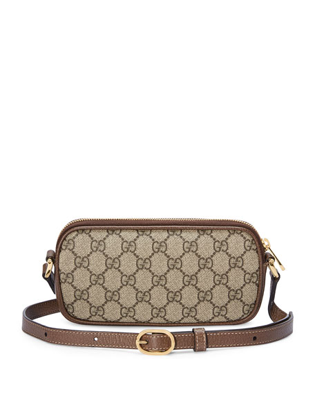 Gucci Ophidia East-West GG Supreme Crossbody Bag