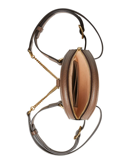 Gucci Ophidia Mini Round GG Supreme Chain-Strap Backpack