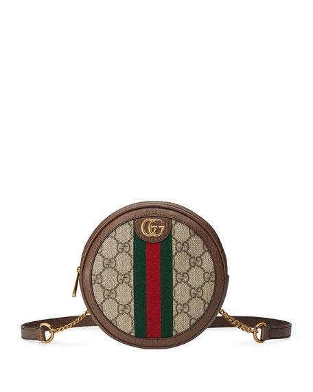 Gucci Backpacks Ophidia Mini Round GG Supreme Chain-Strap Backpack