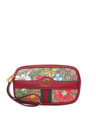 Ophidia GG Flora Wrist Wallet