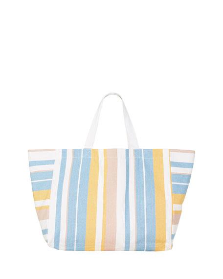 Seafolly Striped Slouchy Beach Tote Bag