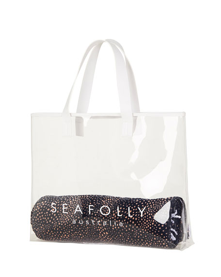 Seafolly Transparent Logo Beach Tote Bag