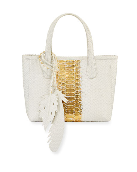 Nancy Gonzalez Erica Mini Python Leaf Tote Bag