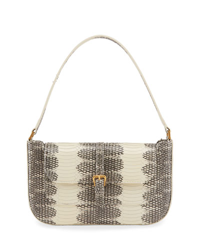 Miranda Snake-Print Shoulder Bag