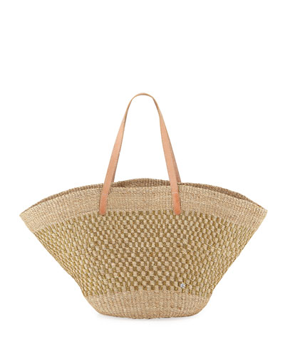 Nisida Abaca Shoulder Tote Bag