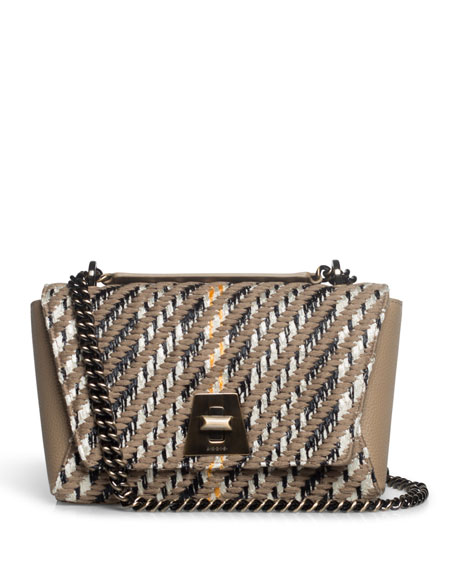 Image 1 of 5: Anouk Small Day Tweed Crossbody Bag