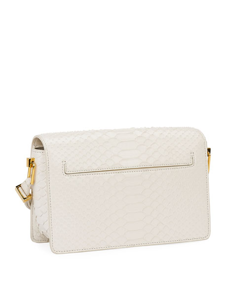 TOM FORD T-Clasp Semi-Shiny Python Shoulder Bag