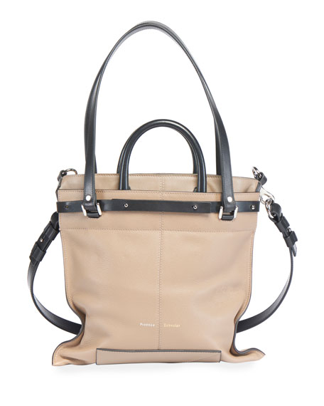 Image 4 of 4: Proenza Schouler PS19 Small Grainy Crossbody Tote Bag