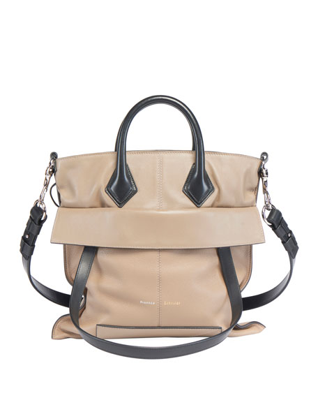 Image 1 of 4: Proenza Schouler PS19 Small Grainy Crossbody Tote Bag
