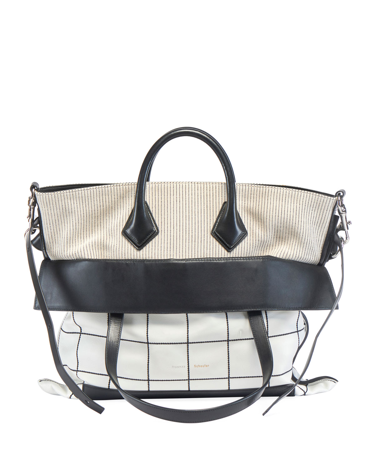 Ps19 Large Plaid Crossbody Bag by Proenza Schouler