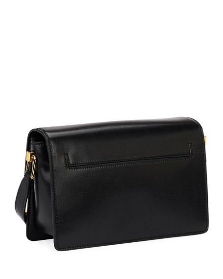 TOM FORD T-Clasp Shiny Leather Shoulder Bag