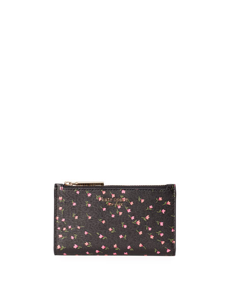 kate spade new york sylvia meadow small slim bifold wallet