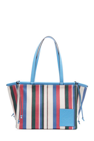 Loewe Cushion Striped Tote Bag