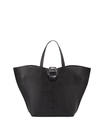 Exclusive Lizard-Print Tote Bag
