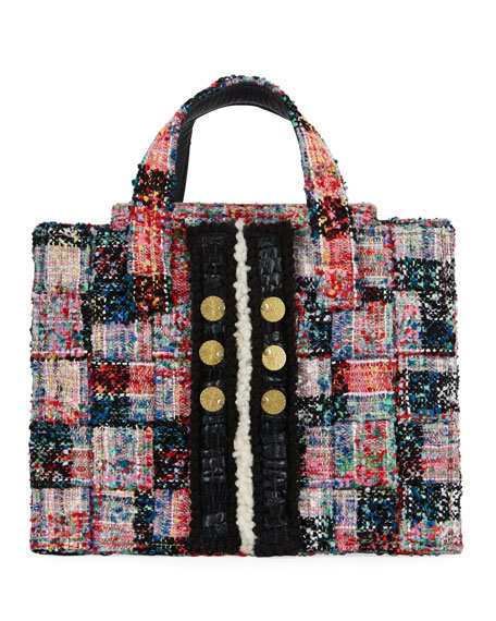 Kooreloo Diana Pixel Tweed Book Tote Bag