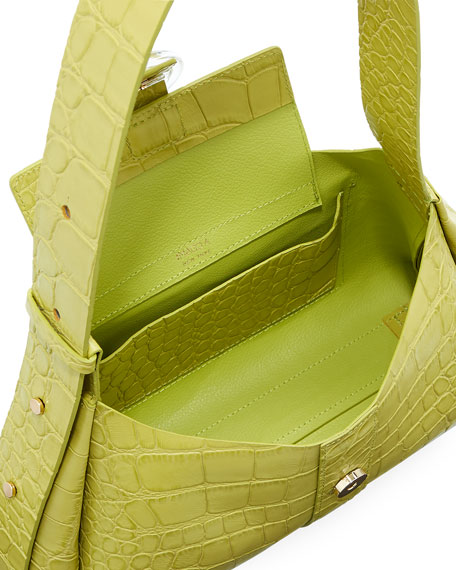 Image 2 of 4: IMAGO-A Exclusive Croco Shoulder Bag