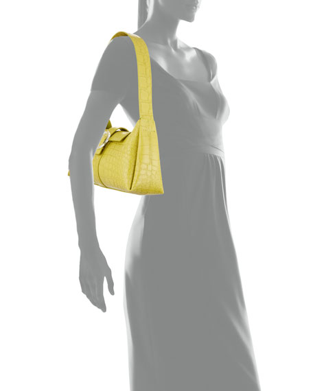 Image 4 of 4: IMAGO-A Exclusive Croco Shoulder Bag