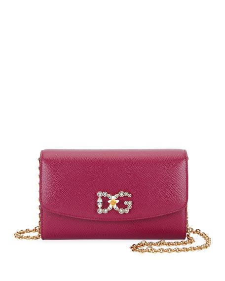 Dolce & Gabbana Stampa Dauphine Wallet on Chain