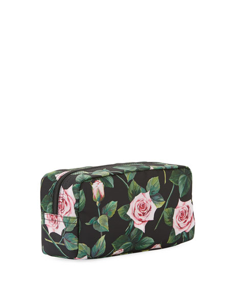 Dolce & Gabbana Floral Nylon Cosmetics Pouch Bag