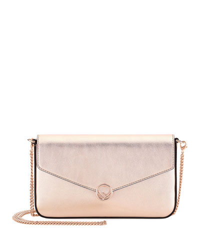 F Laminate Calf Pouch Crossbody Bag